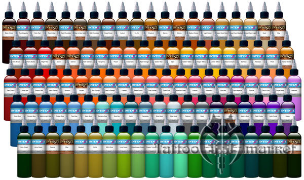 101 intenze 101 color set 101 color for Waverly tattoo ink